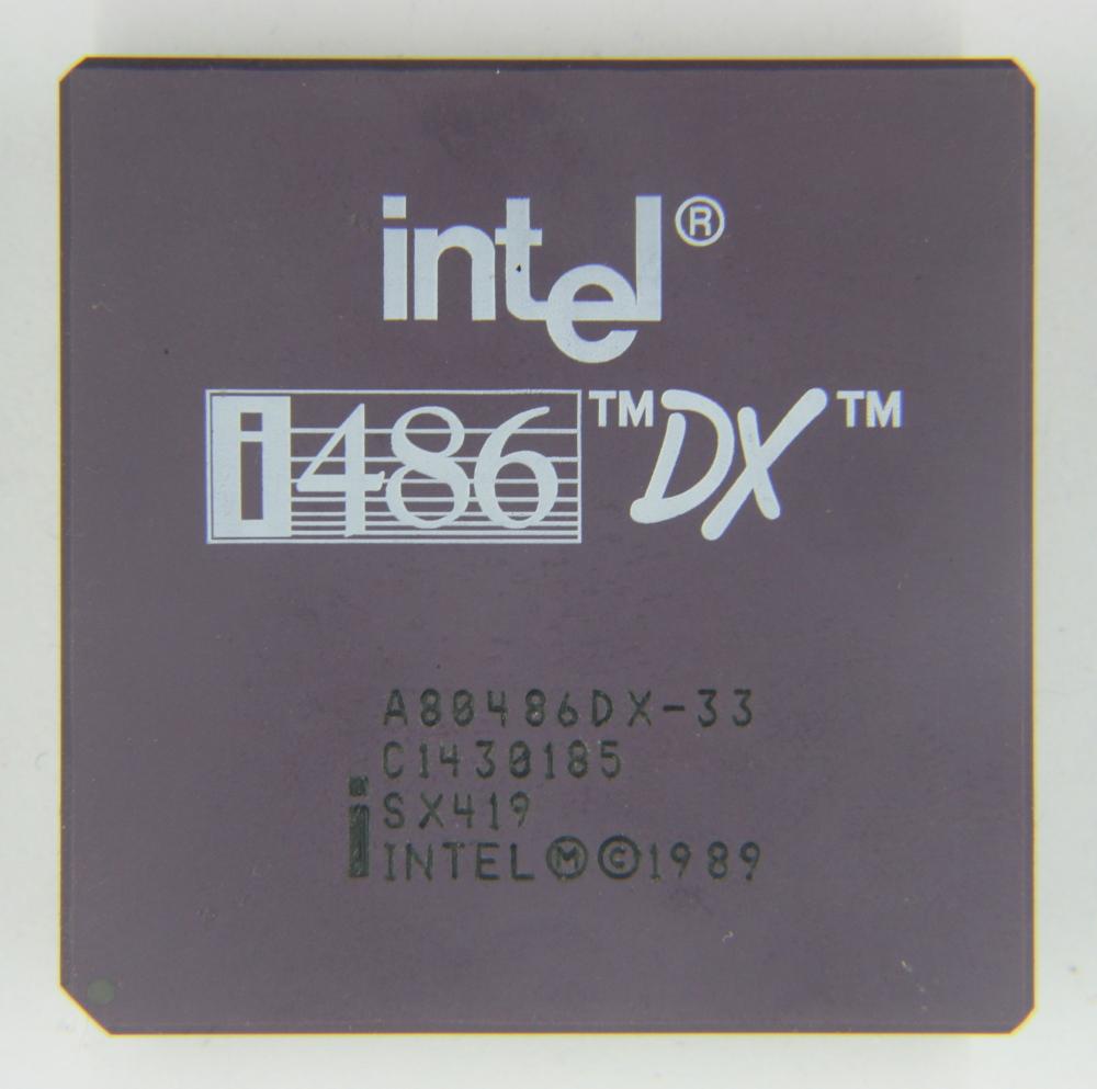 Intel A80486DX-33
