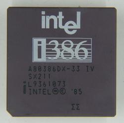 Intel A80386DX-33 IV