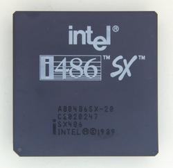 Intel A80486SX-20